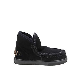 Mou Mufw111008abkbk Women's Black Suede Ankle Boots