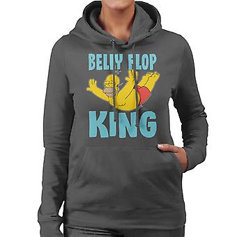 The Simpsons Belly Flop King Women's Hooded Sweatshirt
