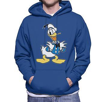 Disney klassisk Donald Duck svart bow tie menn ' s Hettegenser