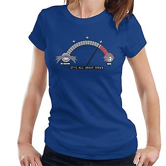 Sonic The Hedgehog Its All About Speed Women's T-Shirt