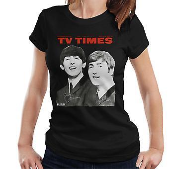 TV Times Beatles 1963 Cover Women's T-Shirt