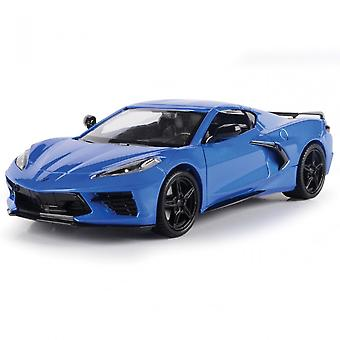 MotorMax Motormax Timeless Legends - 2020 Corvette C8 Blue  1:24