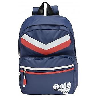 Gola Stewart Chevron Unisex Backpack in Navy Red White