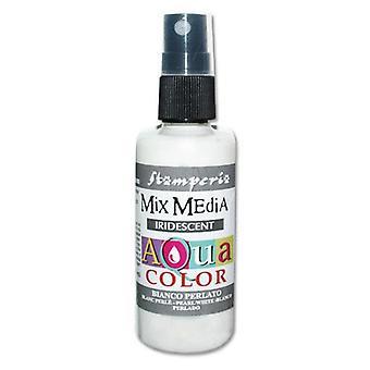 Stamperia Aquacolor Spray 60ml Pearl White