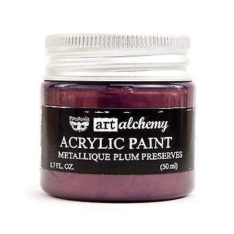 Finnabair Art Alchemy Acrylic Paint Metallique Plum Preserves