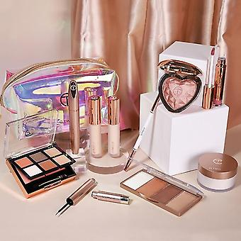 Makeup Kit Include Eye Shadow Blusher Concealer Contour Highlight Mascara Eyebrow Eyeliner Loose Powder