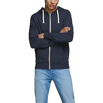 Jack & Jones Men's Comfortable Zip Hoodie Regular Fit Essentials