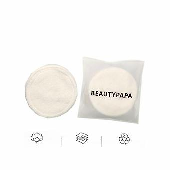6/8pcs Reusable Cotton Double Layer Wipe Pads For Cleaning Removing Makeup Pads