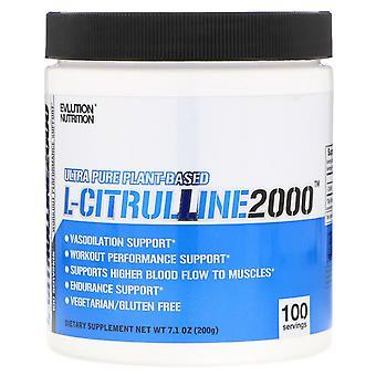 EVLution Nutrition, L-CITRULLINE2000, 7.1 oz (200 g)