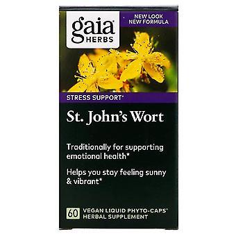 Gaia Herbs, St. John's Wort, 60 Vegan Liquid Phyto-Caps