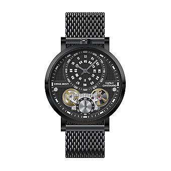 Carlo Cantinaro CC1004GM014 Men's Watch Quartzmatic GMT