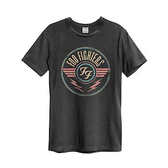 Foo Fighters T Shirt FF Air Logo new Official Mens Amplified Vintage Charcoal