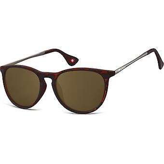 Sunglasses Unisex Panto Cat.3 Brown (S24C)