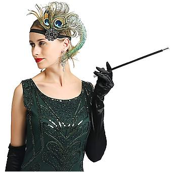 Women's Great Gatsby 1920s Flapper Dress Fringed Sequins Prom Costume (Green,...