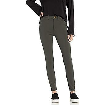 Brand - Daily Ritual Women's Ponte Faux-5 Pocket Flat-Front Legging, O...