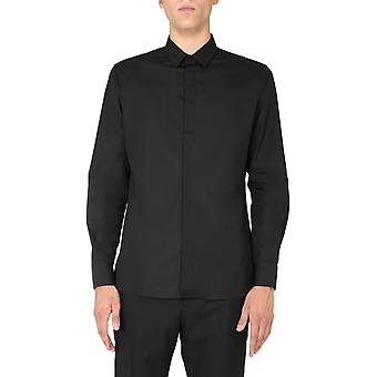 Saint Laurent 564269y217w1000 Men's Black Cotton Shirt