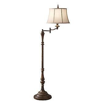 1 Lys gulvlampe Antik Brun, E27