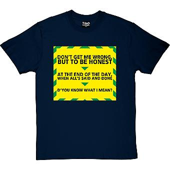 "Gavin et Stacey ""Know What I Mean"" Navy Blue Men-apos;s T-Shirt"