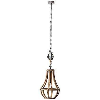 BRILLIANT Lamp Kerk Hanglamp 43cm hout helder | 1x G95, E27, 60 W, geschikt voor normale lampen (niet inbegrepen) | Schaal