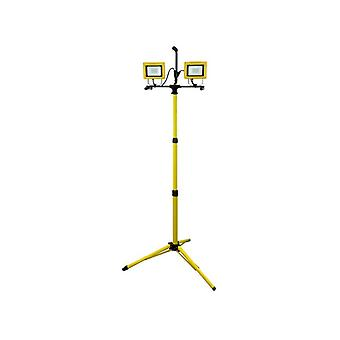 Faithfull Power Plus SMD LED Twin Tripod Site Light 60W 2 x 2700 Lumens 240V