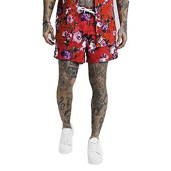 Sik Silk Standard Swim Shorts Red