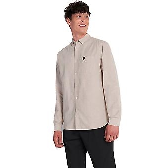 Lyle & Scott Light Weight Oxford Shirt - Sand Storm / White