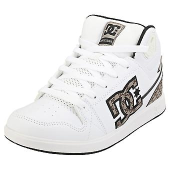 DC Shoes University Mid Se Sn Womens Fashion Trainers in White Brown