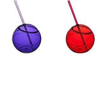 Kugel-Fiesta-Ball und Stroh (2 Stück)