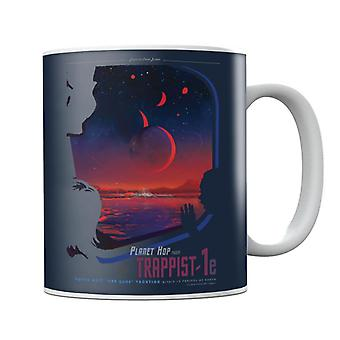NASA Trappist 1e Interplanetary Travel Poster Mug
