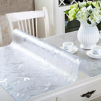 Soft Glass Tablecloth, Transparent, Pvc Waterproof, Oilproof Kitchen Dining