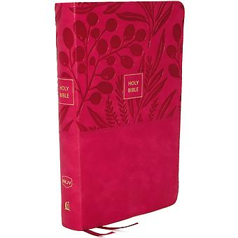 NKJV EndofVerse Reference Bible Compact Leathersoft Pink Red Letter Comfort Print by Nelson & Thomas