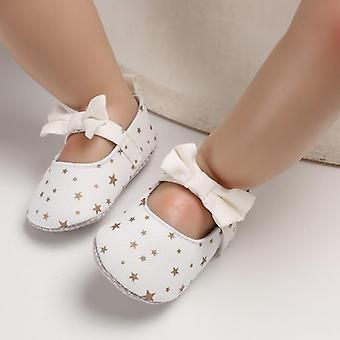 Recién nacido bebé Bowknot soft sole dot Print Zapatos casuales