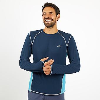 Olympus Bambu Långärmad T-Shirt Pagoden Blå