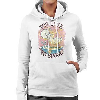 Casper The Friendly Ghost Too Cute To Spook Women's Hooded Sweatshirt