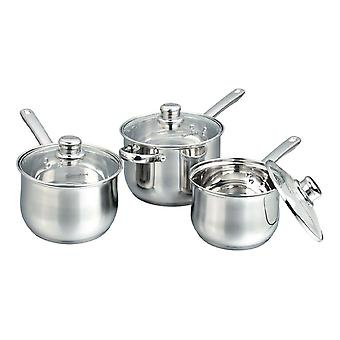 Buckingham Induction Saucepan Set 3 Piece 16cm, 18cm, 20cm 15127