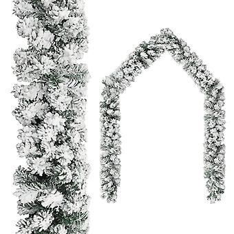 إكليل عيد الميلاد مع الثلج الأخضر 20 م PVC