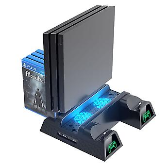 Dual Controller Charger Console Verticale Koelstandaard Station Led Fan