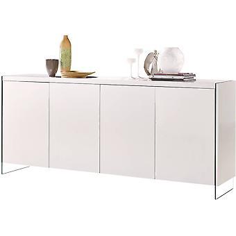 Mueble LED - 201 x 40 x 86 cm - Blanco lacado