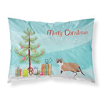 Snowshoe القط عيد ميلاد سعيد عيد الميلاد النسيج القياسية وسادة