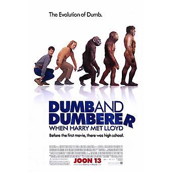 Når Harry møtte Lloyd dumme og Dumberer film plakatutskrift (27 x 40)