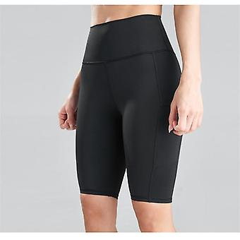 Vrouwen Fietsen Fitness High Waist Push Up Hip Side Pocket Gym Shorts