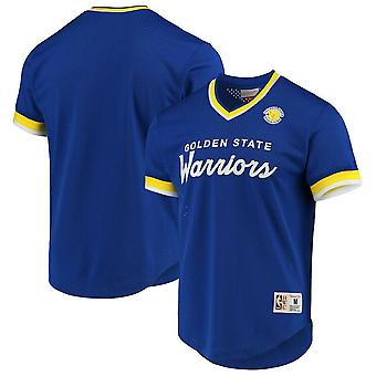 Mitchell & Ness Special Script Mesh V Neck T-Shirt Golden State Warriors GSWROYA