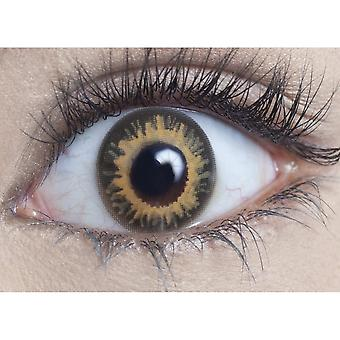 Hunt Or Dye Coco Brown Contact Lenses - 1 Day / Use Natural Fancy Dress Accessories