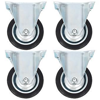 vidaXL ruedas fijas 4 piezas 75 mm