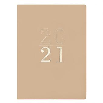 Otter House 2021 Soft Cover Vegan Leather Diary Planner - Tan