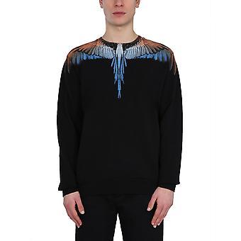 Marcelo Burlon Cmba009r21fle0011020 Men's Black Cotton Sweatshirt