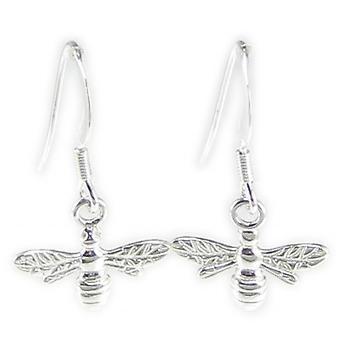 Bijen Sterling Silver Hook Oorbellen .925 X 1 Paar Bee Drops