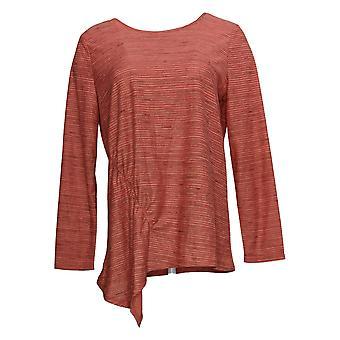 DG2 de Diane Gilman Women's Top Asymmetric Striped Top Red 696-482