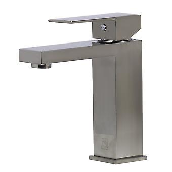 Alfi Brand Ab1229-Bn Brushed Nickel Square Single Lever Bathroom Faucet