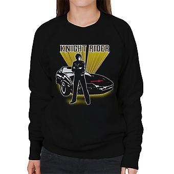Knight Rider Michael Knight Yellow Glow Women's Sudadera